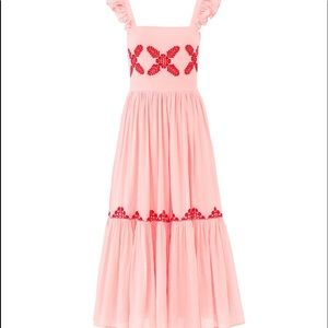 Bohemian Feminine Embroidered Maxi Dress